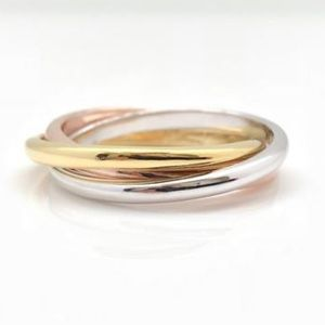 GUC Interlocking Triple Band Ring